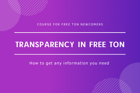 Transparency in free ton